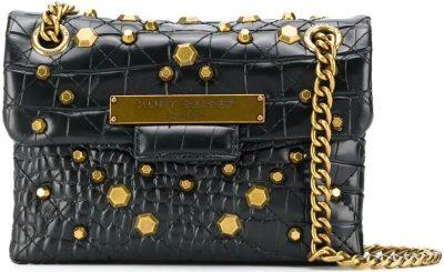 Black Mini Brixton Shoulder Bag-Kurt Geiger London