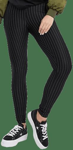 Black Pinstripe Legging-New Look