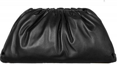 Black Pouch Dumpling Crossbody Bag