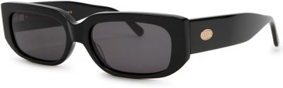 Black Rectangle-Frame Sunglasses
