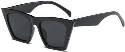 Black Retro Flat Top Sunglasses
