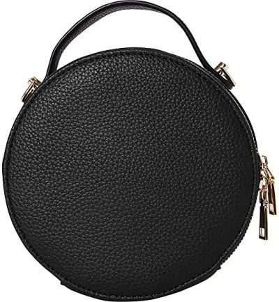 Black Round Crossbody Bag-Buxton