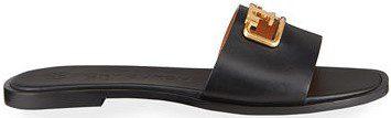 Black Selby Medallion Slide Sandals-Tory Burch