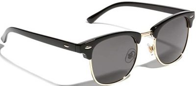 Black Semi Rimless Sunglasses-TIJN