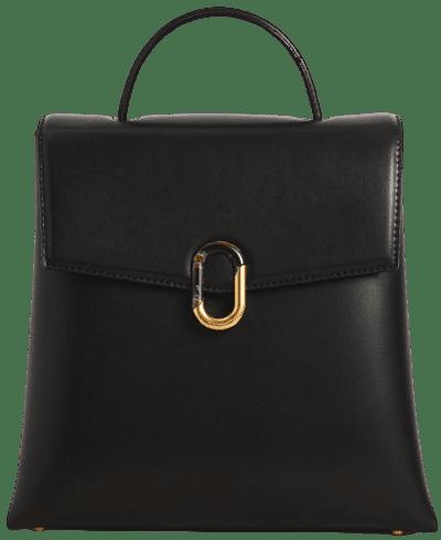 Black Stone-Embellished Backpack