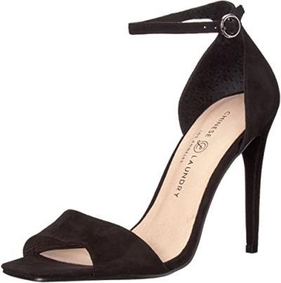 Black Suede Julien Ankle Strap Sandals-Chinese Laundry
