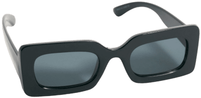 Black Temptation Rectangle Sunglasses-Free People
