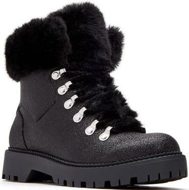 Black The Henry Faux Fur Cuff Boot-Katy Perry