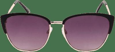 Black Tina Metal Rim Cat Eye Sunglasses-francesca's