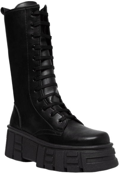 Black Transform Platform Boots
