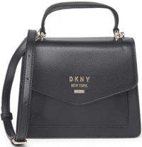 Black Whitney Leather Satchel Bag-DKNY