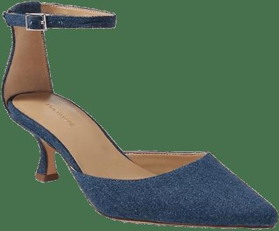 Blue Diana Denim Kitten Heel Pumps-Ann Taylor