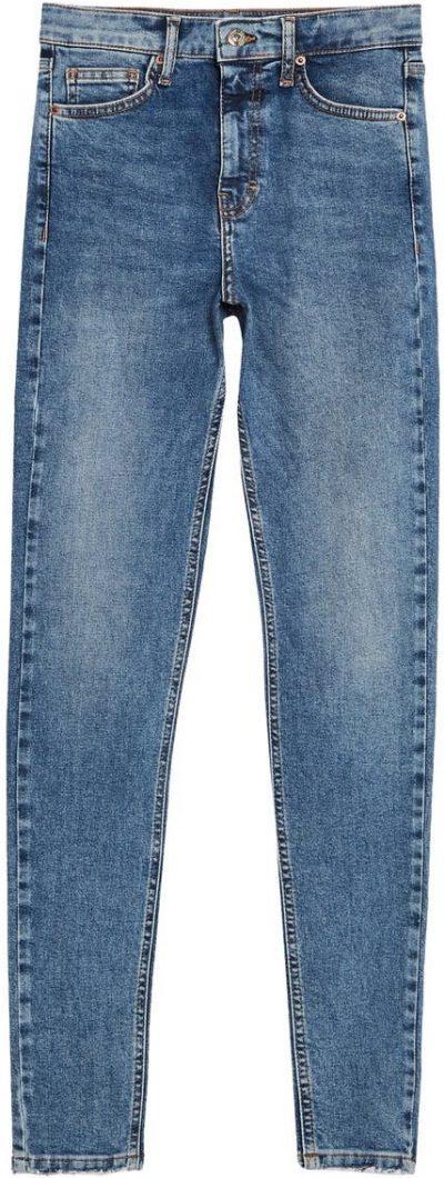 Blue Jamie Fray Hem High Waist Skinny Jeans-Topshop
