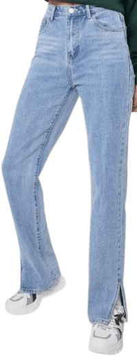 Blue Slit's Now or Never Jeans-Nasty Gal