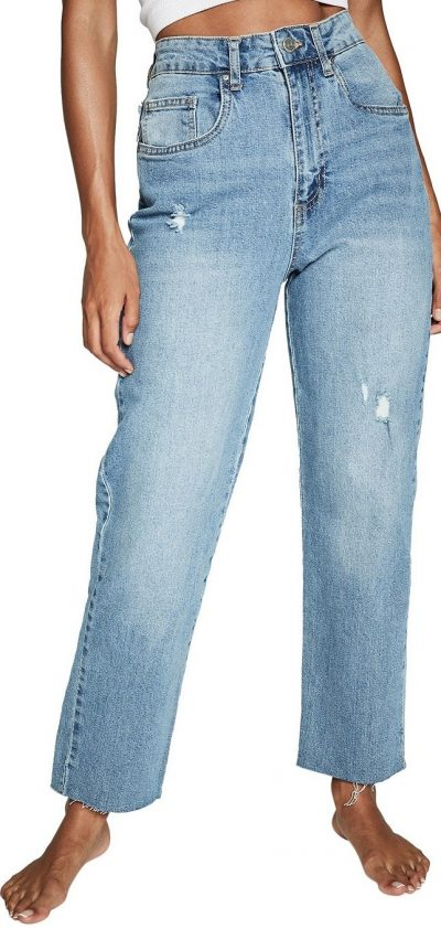 Blue Straight Stretch Jeans-Cotton On