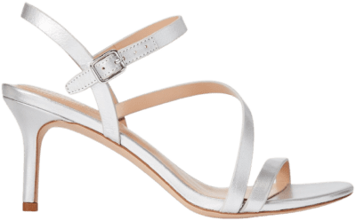 Bright Silver Landyn Metallic Leather Sandal-Ralph Lauren