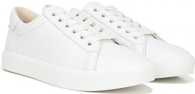 Bright White Leather Ethyl Low Top Sneakers
