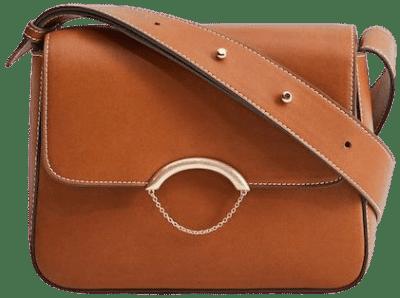 Brown Flap Cross-Body Bag