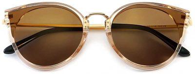 Brown Oversized Vintage Cat Eye Sunglasses