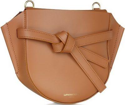 Brown Peyote Leather Shoulder Bag-Le Parmentier