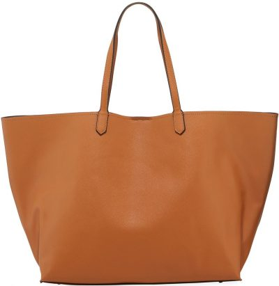 Camel Large Faux-Leather Tote Bag