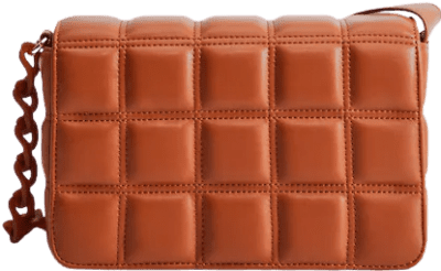 Caramel Quilted Chain Bag