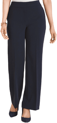 Classic Navy Wide-Leg Pants