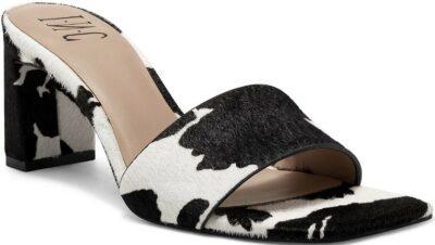 Cow Print Beyla Dress Slides-INC International Concepts
