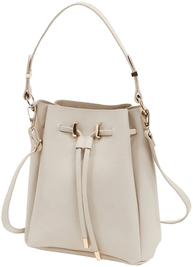 Cream Bonded Bucket Bag-Asos Design