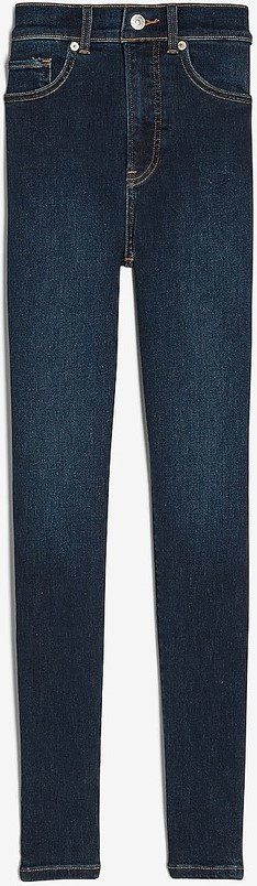 Dark Wash High Waisted Skinny Jeans-Express