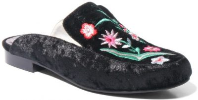 Flower Embroidered Too Mandy Mules