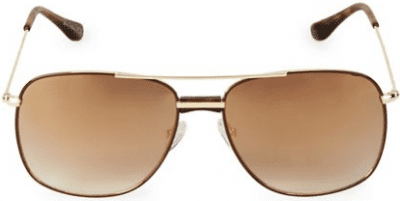 Gold 58MM Aviator Square Sunglasses-Sam Edelman