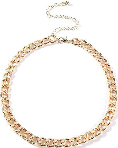 Gold Chain Metal Choker Necklace-Yalice