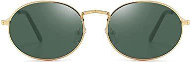 Gold Frame Oval Sunglasses-Dollger