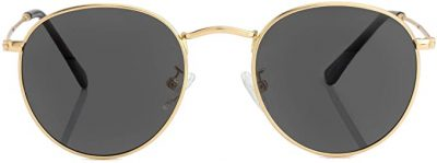 Gold Frame Polarized Sunglasses-Kursan