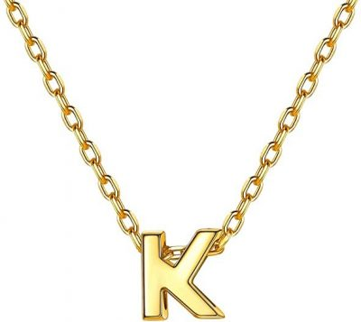 Gold Letter Necklace-Silvora