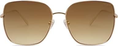 Gold Oversized Square Sunglasses-SOJOS