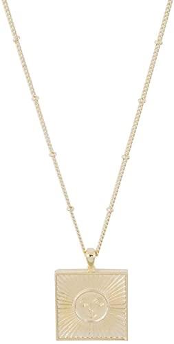 Gold Sun Goddess Necklace-Honeycat