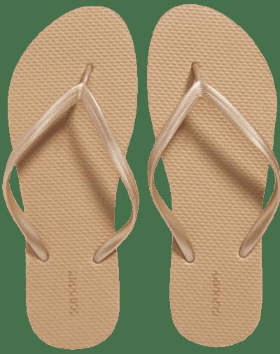 Golden Bronze Flip Flops