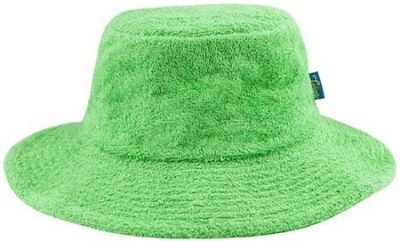 Green Terry Towelling Bucket Hat-The Terry Australia