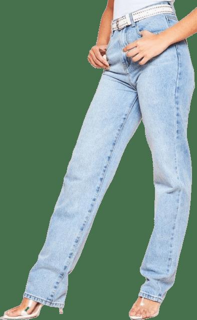 Ivy Denim Straight Leg Jeans-Missy Empire