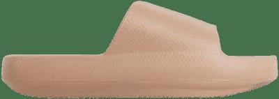 Khaki Brown Rubber Space Flat Slider Sandal-Ego