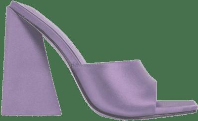 Lilac Satin Avalon Block Heel Mule-Ego