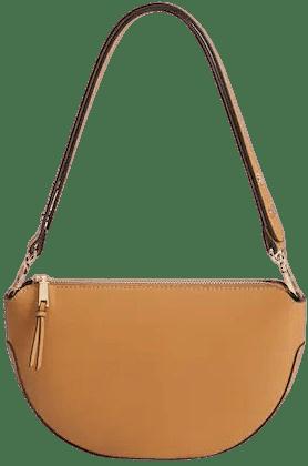 Medium Brown Adjustable Cross-Body Bag-Mango