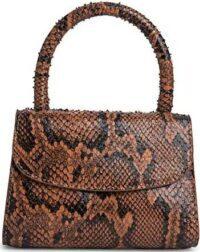 Mini Snake-Print Leather Top Handle Bag-By Far