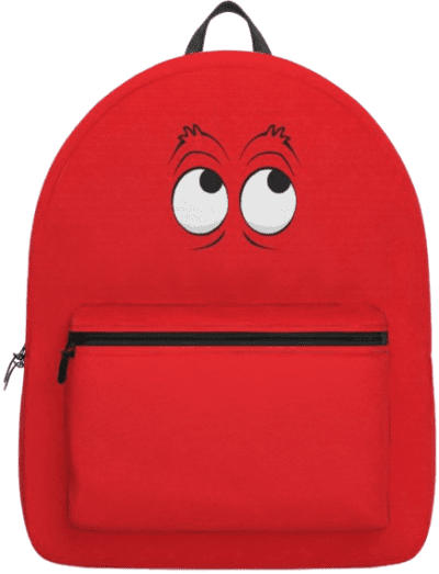 Monster Eyes Red Backpack-Orio Concepts