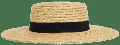 Natural Straw Easy Boater Hat-Asos Design
