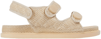 Nude Mesh Hyped Double Strap Flat Dad Sandal-Ego