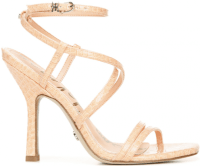 Peach Fizz Croc Leeanne Strappy Stiletto Sandals