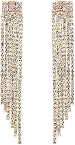 Pierced-Gold Tassel Earrings-Mlouye